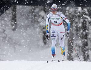 Britta Johansson Norgren tävlar denna säsong för Lager 157. Här i landslagsdräkten från 2014.