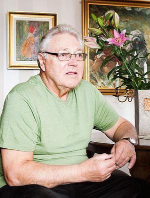 På fredagen hade Heinz Ekruth, 73, en ordentlig lårkaka efter fallet.