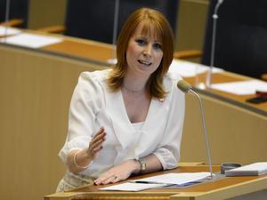 Partiledardebatten. Annie Lööf imponerade under onsdagens partiledardebatt i riksdagen.