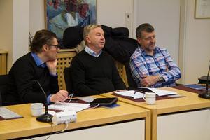 Lars Enoksson, näringslivssekreterare, Avesta kommun, i mitten. Enligt honom är Avesta kommun intresserade av se hur andra kommuner jobbar med nyanländas sysselsättning.