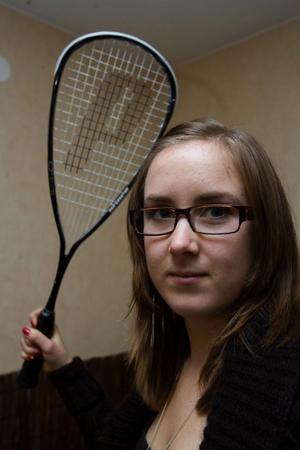 Squash är en trevlig motionssyssla tycker Ingrid.