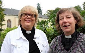 Madeleine Ingmarstedt är kyrkoherde i Avesta Grytnäs pastorat och Ingrid Öberg Hägg i By Folkärna pastorat. Foto: Eva Högkvist