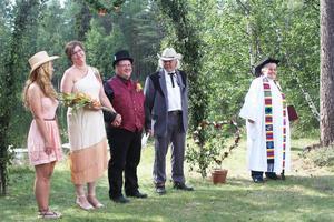 Från countrybröllopet mellan Ylva Nordin och Erik Korkeamäki.