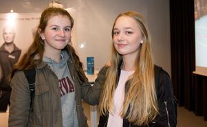 Besökarna Malin Bjärnlid och Emmy Henriksson  tyckte att det fanns mycket intressant att ta del av på mässan.