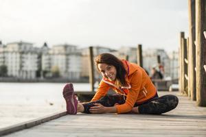 Sofia Sjöström tror på enkel träning med få hjälpmedel och prylar – och att använda träningen som ett avkopplande avbrott i vardagen.