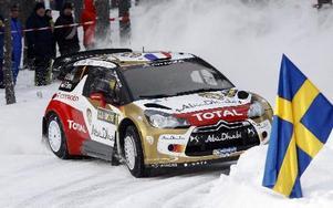 Sebastien Loeb kom tvåa i sin sista start i det svenska VM-rallyt. foto: Lars Ingvar Eriksson