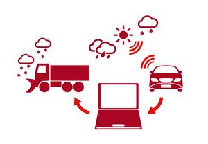 Trafikanter samlar in data ute på vägarna, som sedan kombineras med väderinformation av olika slag. Därmed får Trafikverket större möjlighet att utföra halkbekämpning på rätt plats vid rätt tid.