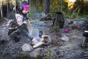 Jakten är en upplevelse, enligt Erica Ling, allt från att göra upp en eld till att se och kanske få skjuta en älg.