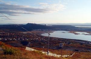 Hänförande utsikt från Luossavaara-toppen.