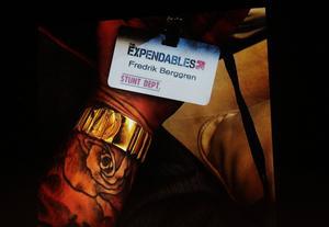Fredrik Berggren var på plats i Sofia, Bulgarien i två och en halv månad under inspelningen av The Expendables 3.
