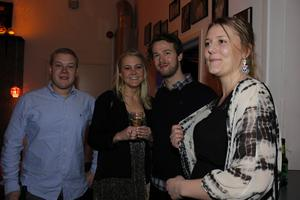 Mattias Frödin, Linnea Ahlqvist, Jonas Danielsson och Isabelle Jonsson.
