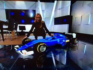 Ny leksak i studion: Marcus Ericssons bil i virtual reality!