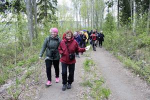 Hanna Andersson och Cecilia Olsson är nöjda med dagens exkursion och de fåglar som de har sett.