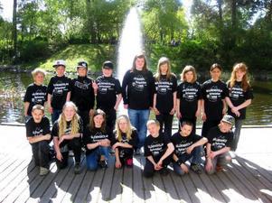 Glada miner i Näldens lag efter tävlingen.  Foto: Anneli Enarsson