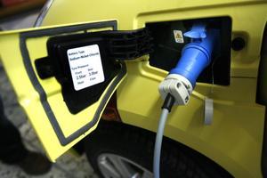 Sedan tillverkaren Think gick i konkurs förra året finns det ingen serviceorganisation i Sverige för de norska elbilarna. Krockkuddelampan lyser och bilarna har fått körförbud.