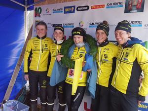 Stora Tunas vinnarlag från vänster: Frida Sandberg,Magdalena Olsson, Tove Alexandersson, Julia Gross och Anna Mårsell.