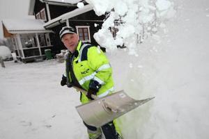 Några problem med snön är det inte inför årets Snöyra i Lillhärdal. Ove Busk är förhoppningsfull inför helgen. Foto: Håkan degselius