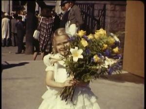 Blomsterflickor på jubileumsutställningen. Någon som känner igen dem?