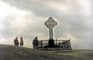 Ingen helyllesvensk. Ansgar, som kom från det nuvarande Frankrike, anses vara den som förde kristendomen till Sverige. På bilden: Ansgar-monumentet på Björkö. Arkivfoto: Lennart Nygren/Scanpix