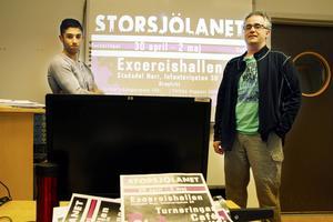 Kaith Alelyawi, elev och Fredrik Wigden, IT-lärare på Storsjögymnasiet, tillhör en grupp som arbetar för fullt med att få till ett stort LAN för högstadie- och gymnasieungdomar på Valborg.