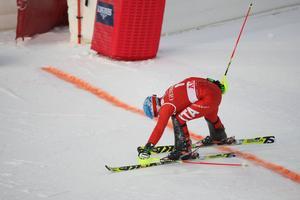 Stefano Gross, Italien, gjorde sitt bästa för att haka på täten men slutade tolva.
