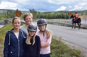Ridande och boende i Ånge vill se en säkrare gång- cykel- och ridpassage mellan Forsön och Sörsidan.