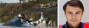 Totalt omkom 44 människor vid flygkraschen, bland dem hockeymålvakten Stefan Liv.