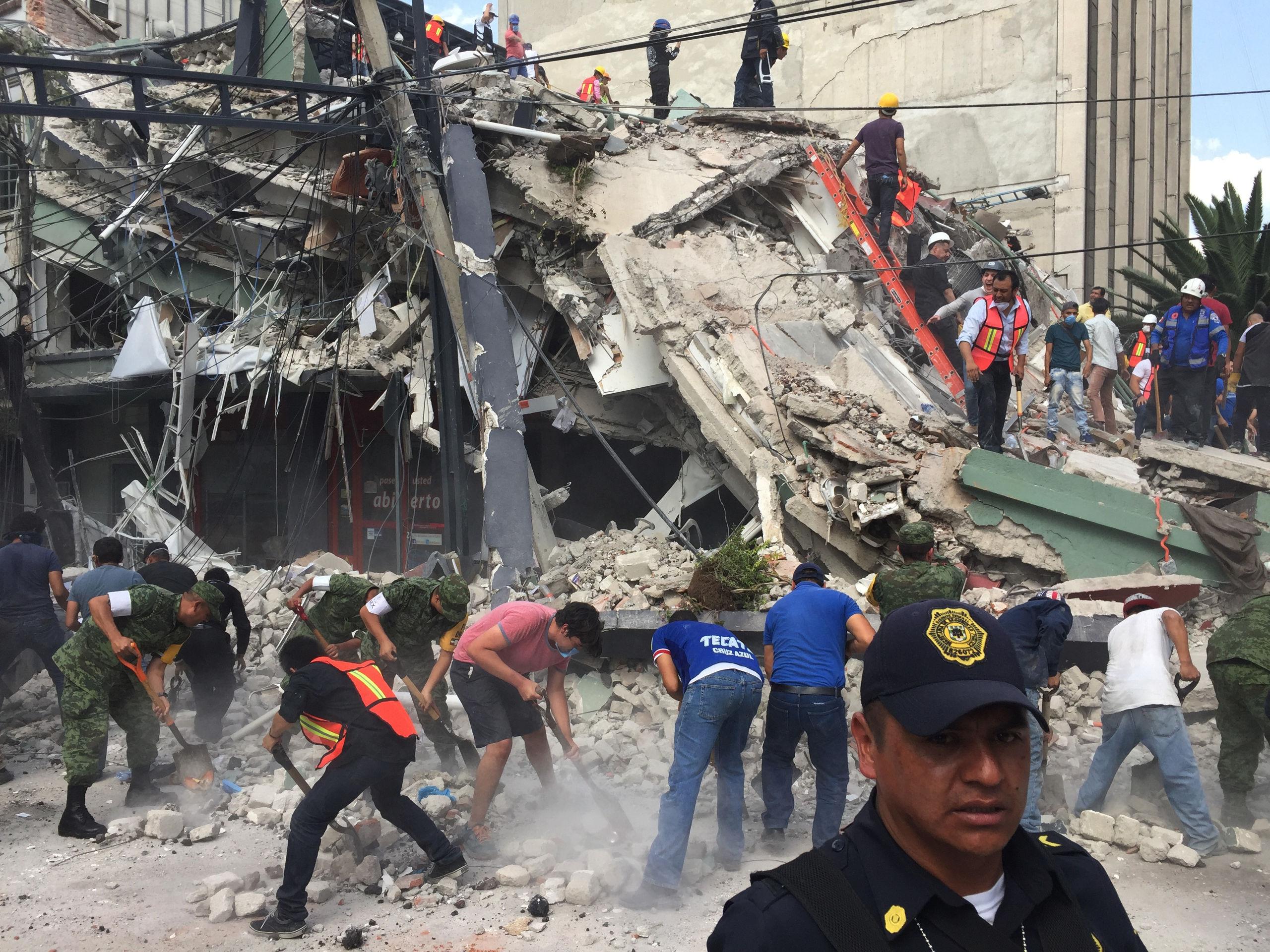 Kraftigt skalv i mexiko