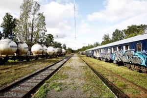 Tågtrafiken förbi Ulriksfors har varit tätare än vad den är nu, men fortfarande passerar tåg två gånger om dagen.