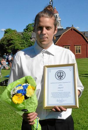 Eric Sjögren från Drift tog emot stipendiet.