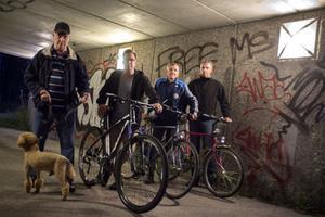Sune Kälveryd, Calle Cedermark, Sixten Ivarsson och Björn Nilsen har varit med och skrivit ett medborgarförslag om att få en cykelväg.