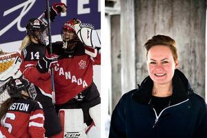 Landslagsforwarden Erica Udén Johansson ska snart byta collegehockeyn i USA mot svenska Riksserien igen.