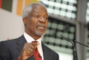Kofi Annan är svärson till GunnarLagergren.