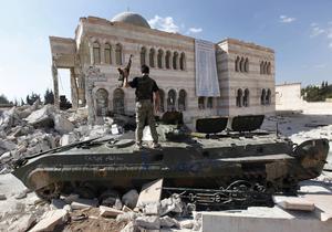 Bild från Azaz, strax norr om Aleppo, i september 2012. Det syriska inbördeskriget har dödat över 250 000 människor och tvingat miljoner på flykt.