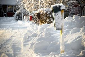 Snöovädret de senaste dagarna gör att det kan bli problem med postdistributionen.