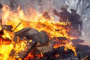 En person saknas efter villabranden i Grenås.