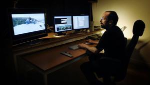 Håkan Karlssons startar nätverk för filmklippning i Gävleborg. Modern fiberoptik möjliggör klippning på distans. Foto: Katarina Hansson/arkiv