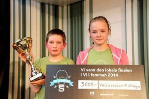 Det var slutligen Vallaskolan med snabbtänkta Axel Hedström och Hanna Toftegaard som vann länsfinalen i Vi i femman.