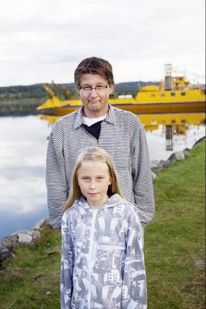Magda Aspholm och Jan Hansson stod och njöt av utsikten i pausen.