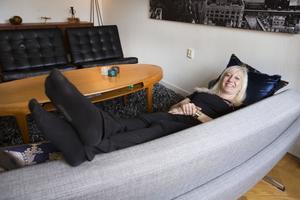 Den rymdinspirerade soffan Capri från 1950-talet funkar även bra att ligga i.