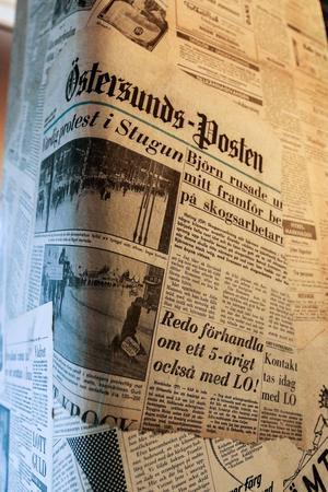 På Republiken är Östersunds-Posten en del av inredningen.