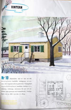 Ett enfamiljshus från Svenska Trähus broschyr 1941.