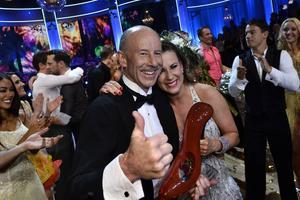 Ingemar Stenmark med danspartnern Cecilia Ehrling vann fredagens final i TV4:s