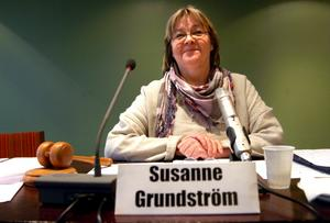 Lugn. Susanne Grundström, ordförande i föreningen Hällefors folkhögskola, känner ingen oro.