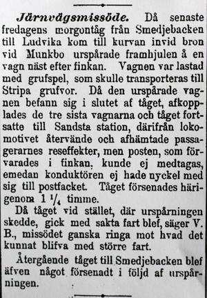 Ur tidningen Dalpilen 1896. Foto:Ur tidningen Dalpilen 1896
