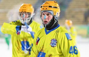 Ilari Moisala rejält påpälsad i en match med sin förra ryska klubb Volga i början av året Foto: Roman Abramovskii (www.vodnik.fotki.com)