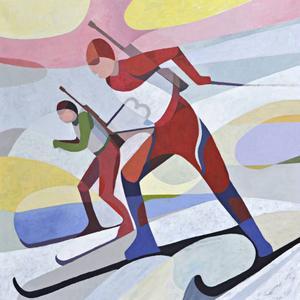 Utställningen visas i tio dagar under värlscupen i skidskytte.