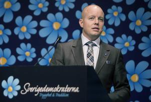 Björn Söder försvarar sitt partis ideologi.