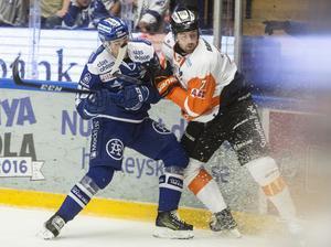 Leksands Tobias Forsberg styrde in 1–0.