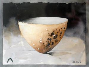 Skålen, livets kärl, återkommer i Leif Nordlöfs måleri.